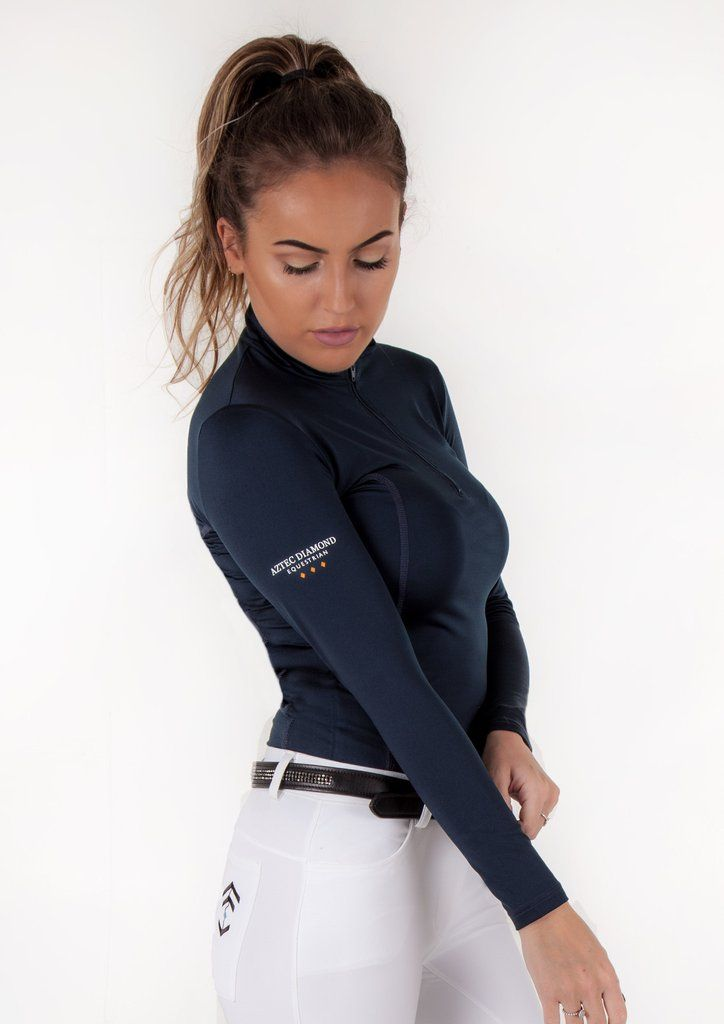Navy Technical Stretch Base Layer Aztec Diamond