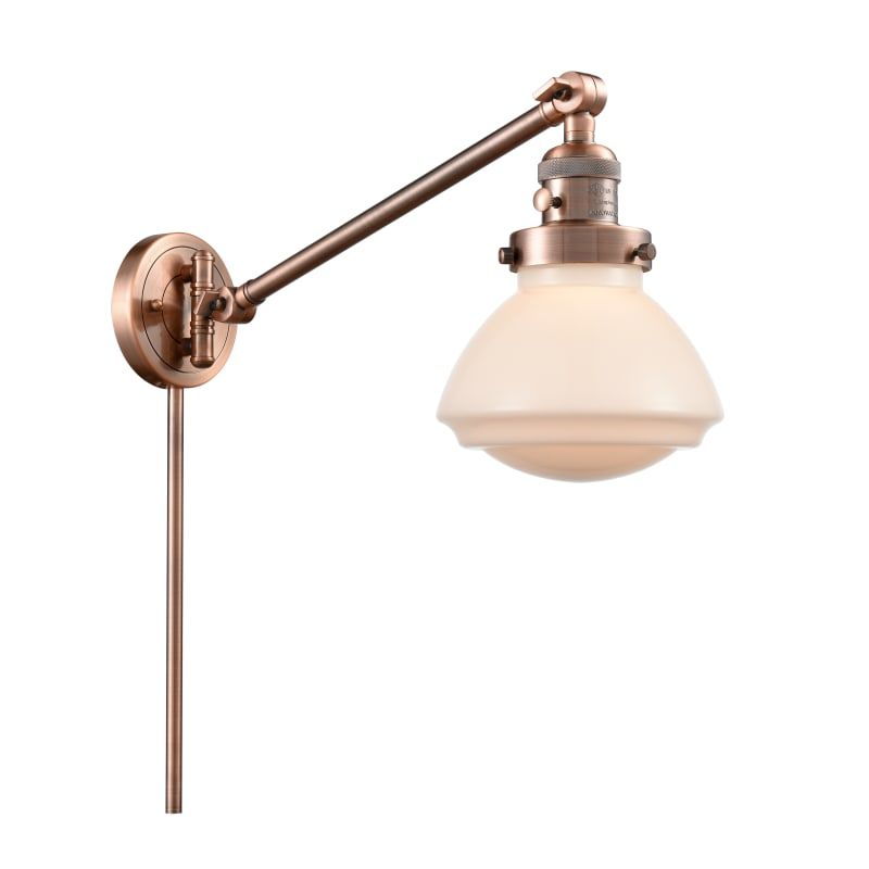 "Photo of Innovations Lighting 237 Olean Olean 22 ""high bathroom lamp Antique copper / matt white Interior lighting Bathroom lamps Bathroom lamp"