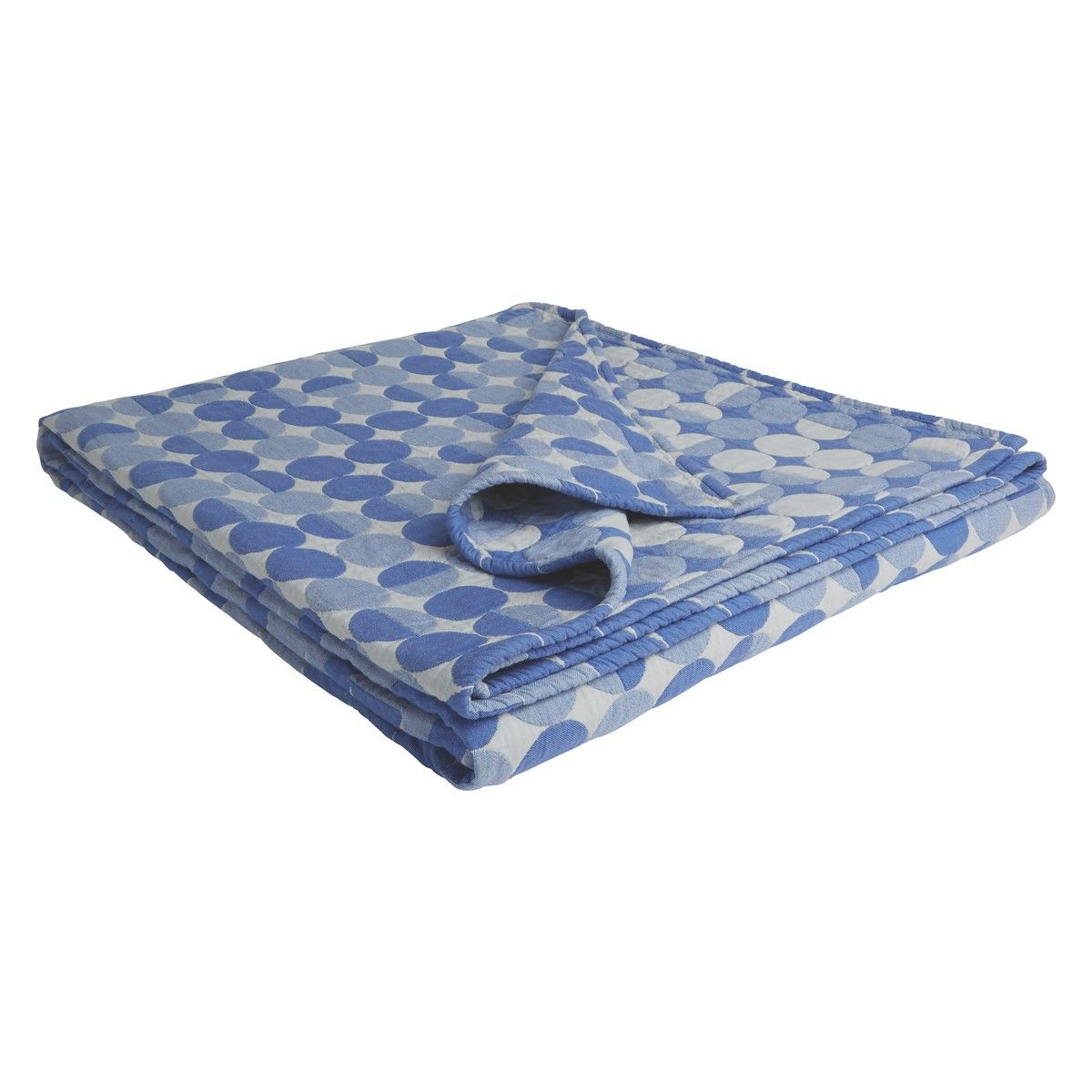 OCCHIO Blue and white quilted cotton throw 150x200cm   Buy now at Habitat UK