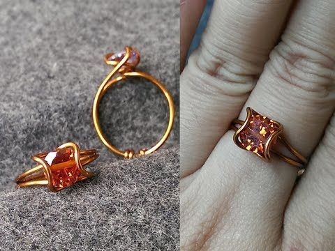 Tutorial twisted ring 1 - How to make wire jewelery - YouTube ...
