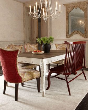 Kendall Dining Table Elam Bench Glenwick Side Chair By Jeff Zimmerman Collection Key City At Horchow