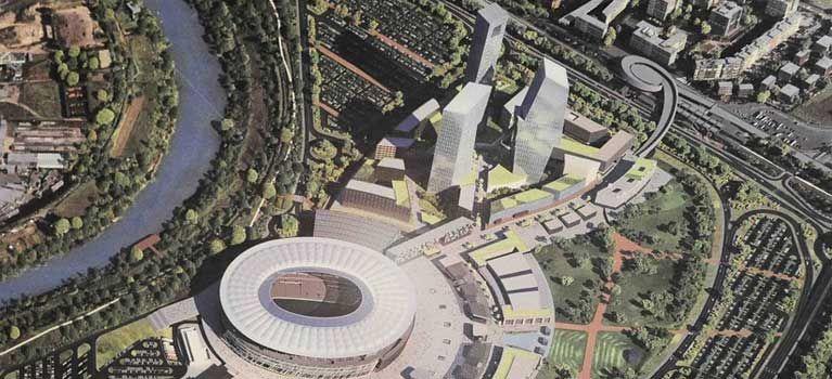 Stadio: Raggi dà il via libera. Cubature tagliate del 50%? Semmai sono state aumentate del 500% rispetto alle previsioni del Piano Regolatore.
