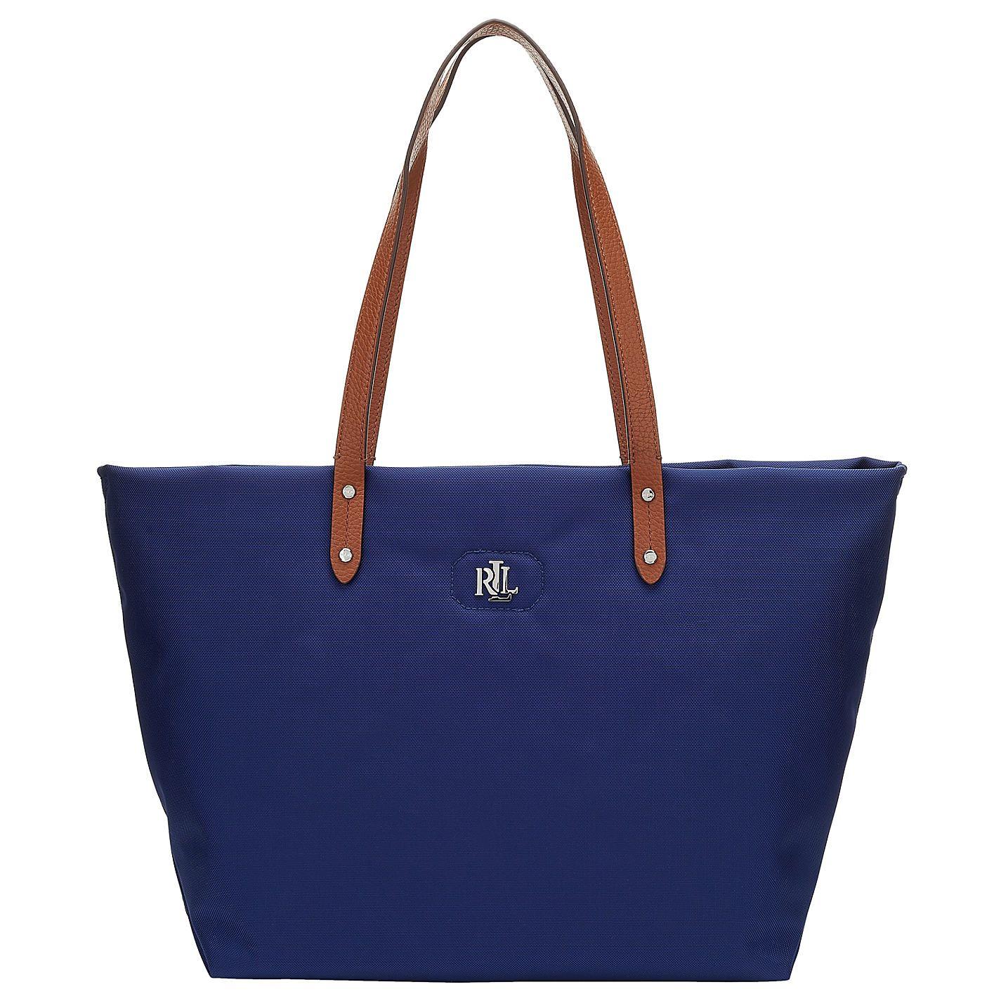 Buy Lauren Ralph Lauren Bainbridge Nylon Tote Bag, Bright Navy from our  Handbags range at