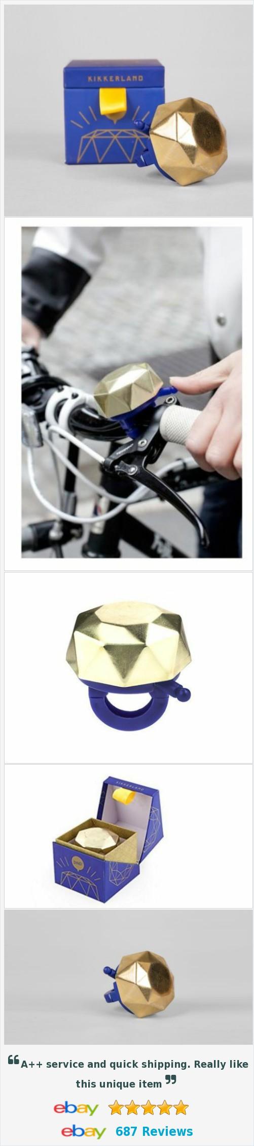 kikkerland RING TO IT Bike Bicycle Bell #BB40 Golden Jewel boxed StudioFrisco