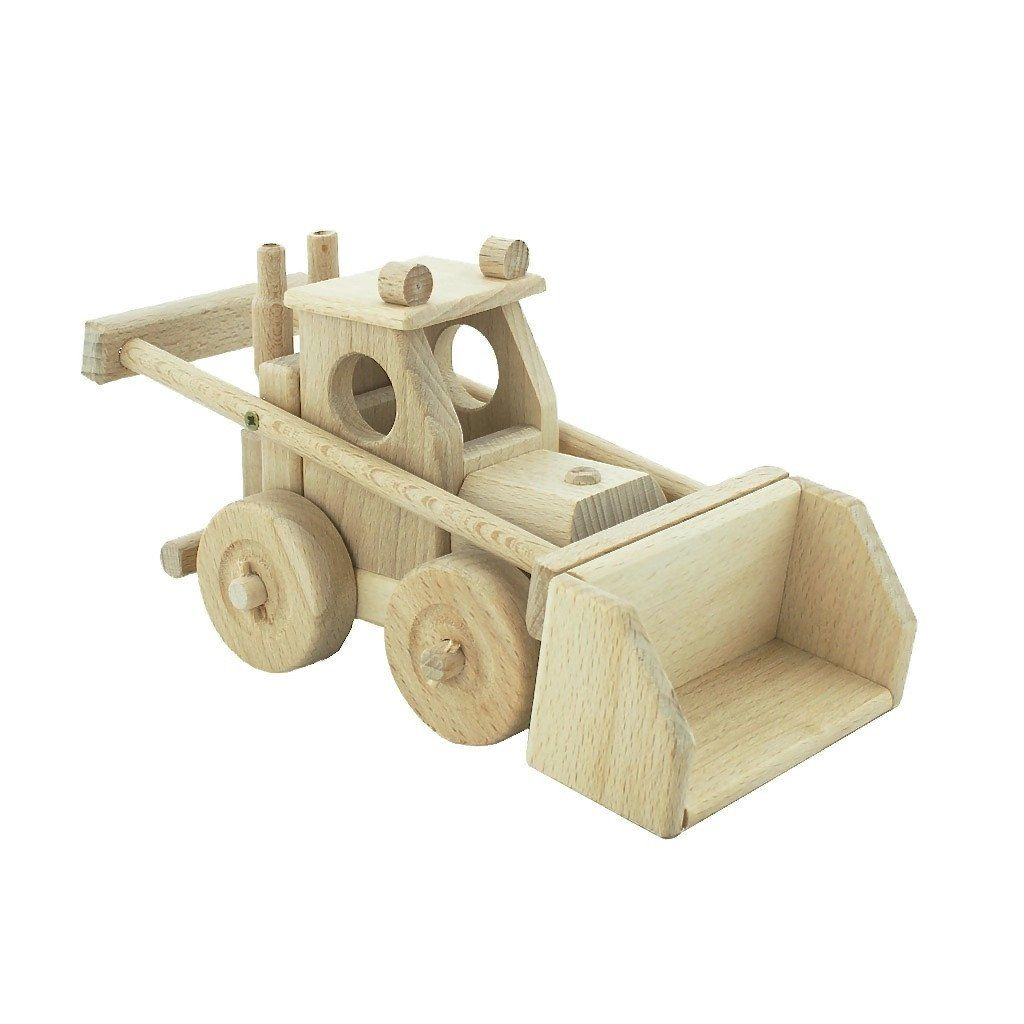 wooden bulldozer - archie | wood toys | wooden toys, toys