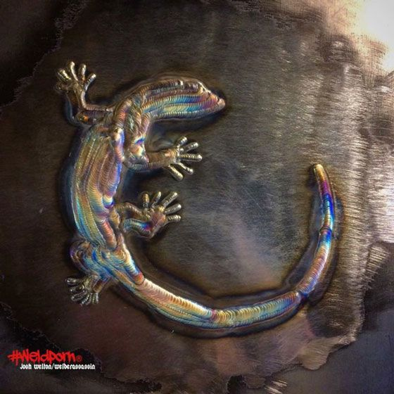 welding art - lizard
