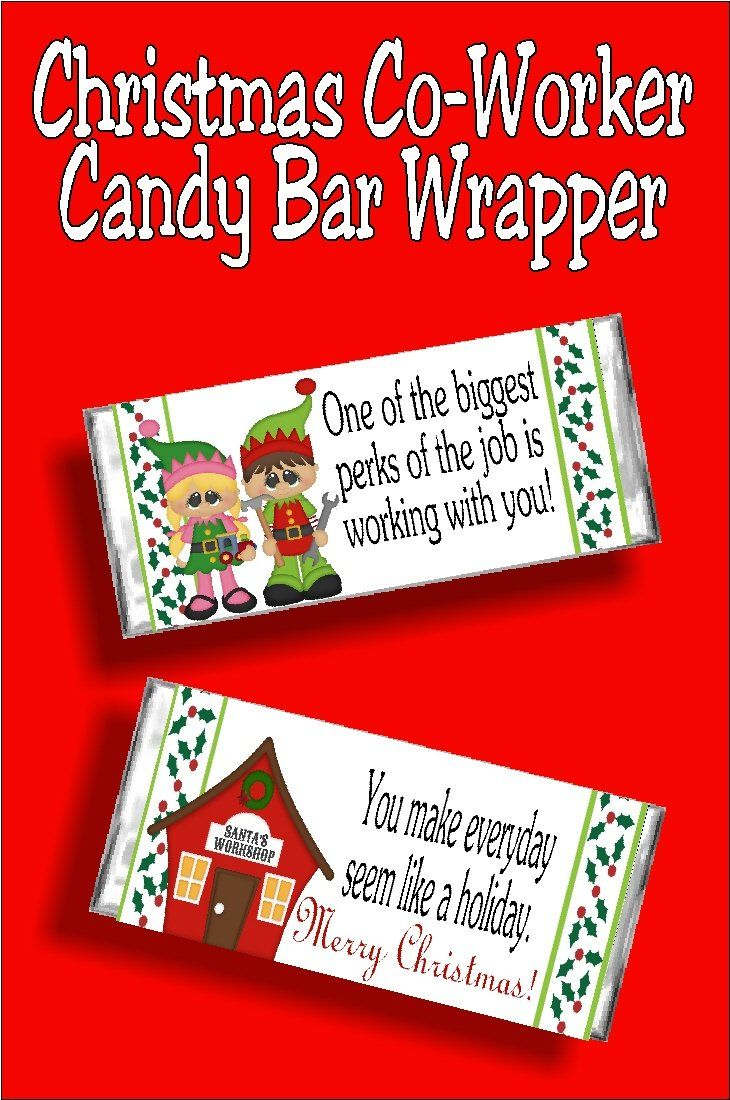 Christmas CoWorker Candy Bar Wrapper Printable