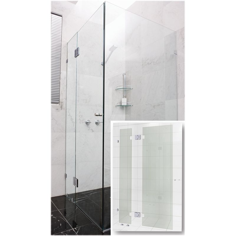 Find Highgrove 10 x 2000 x 865mm Frameless Glass Shower Door Kit at ...