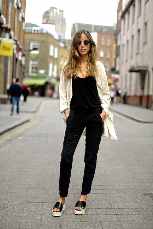 88923fc61b8e Black velvet overalls are worn with a silk white blazer