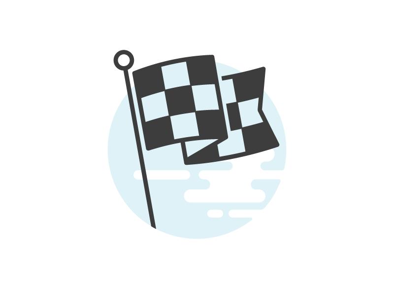 Checkered Flag Illustration Flag Icon Checkered Checkered Flag