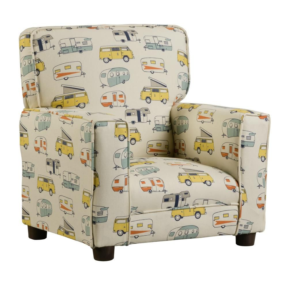 Chapter 3 Coco Multi Color Upholstered Juvenile Kids Arm Chair