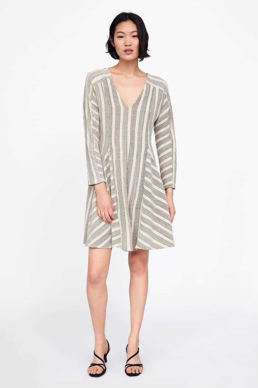 c0705754442 Image 1 of TWO-TONE STRIPED DRESS from Zara