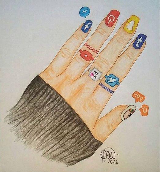 Facebook messenger pinterest snapchat tumblr youtube we heart it