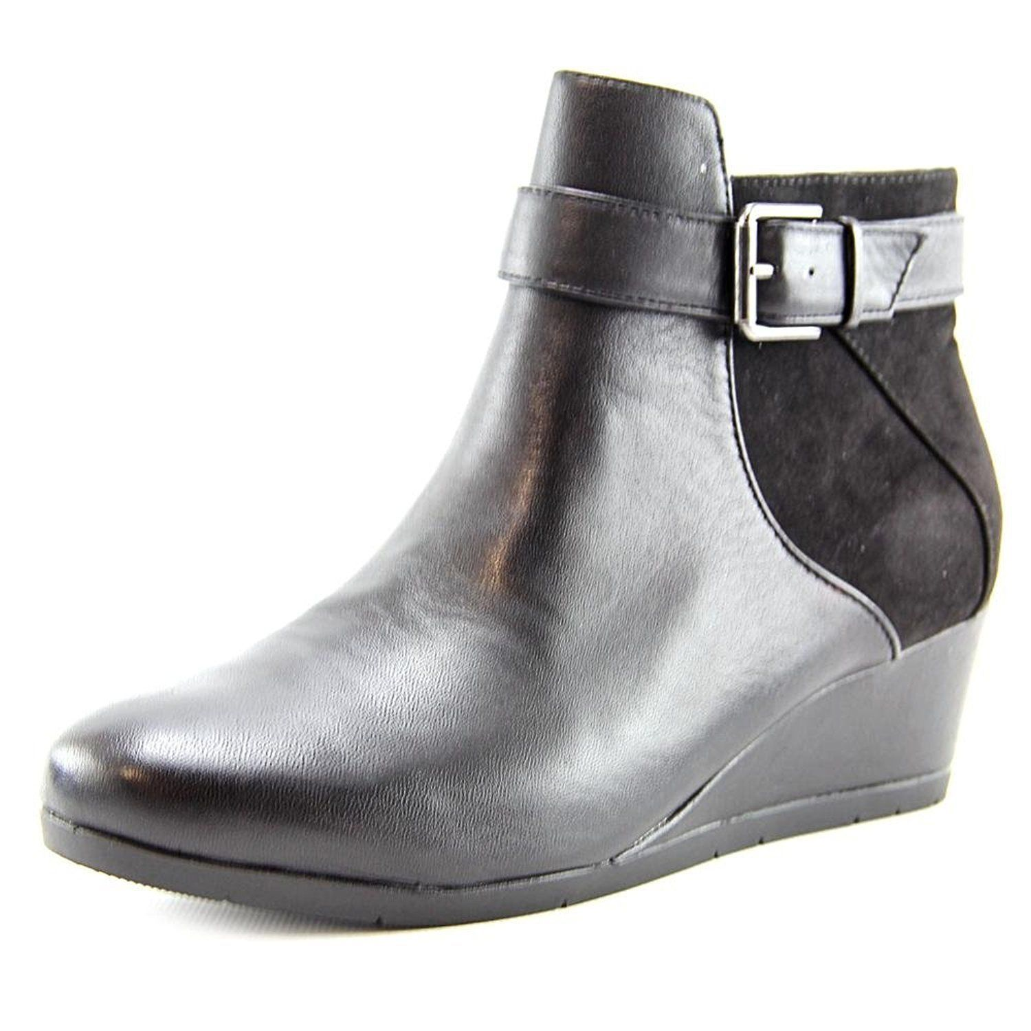 Womens Chelseaa Leather Closed Toe Ankle Fashion Boots