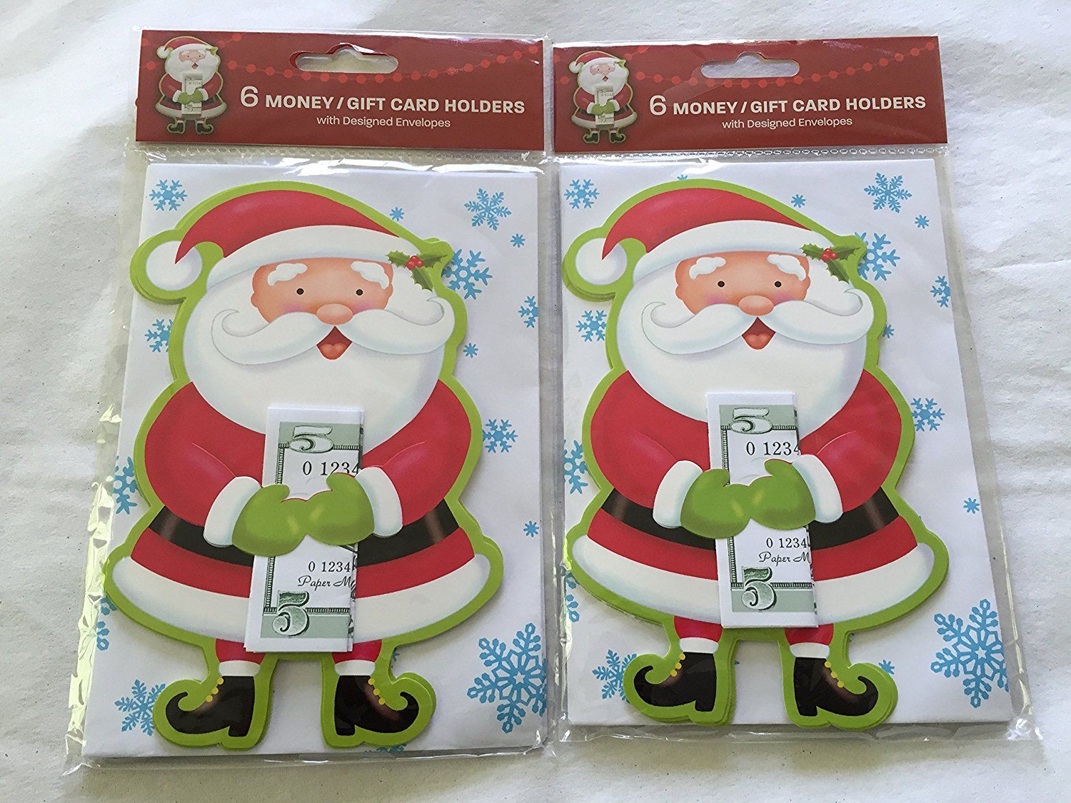 Paper Magic Group 6 Santa Money/gift Card Holders with Designed ...