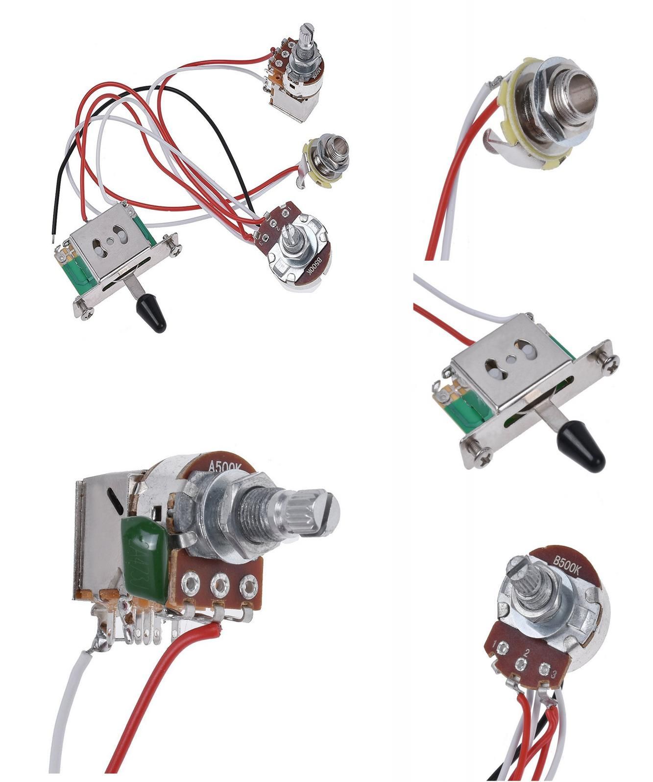 hight resolution of  visit to buy electric guitar wiring harness prewired kit 3 way toggle switch 1