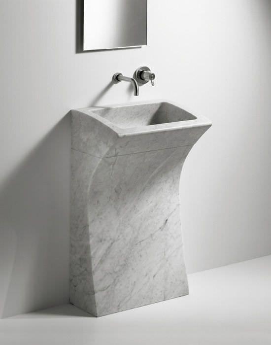 Floor Standing Washbasin Marble Bjhon 1 By Angelo Mangiarotti Agape Modern Bathroom Sink Bathroom Sink Marble Sink Bathroom