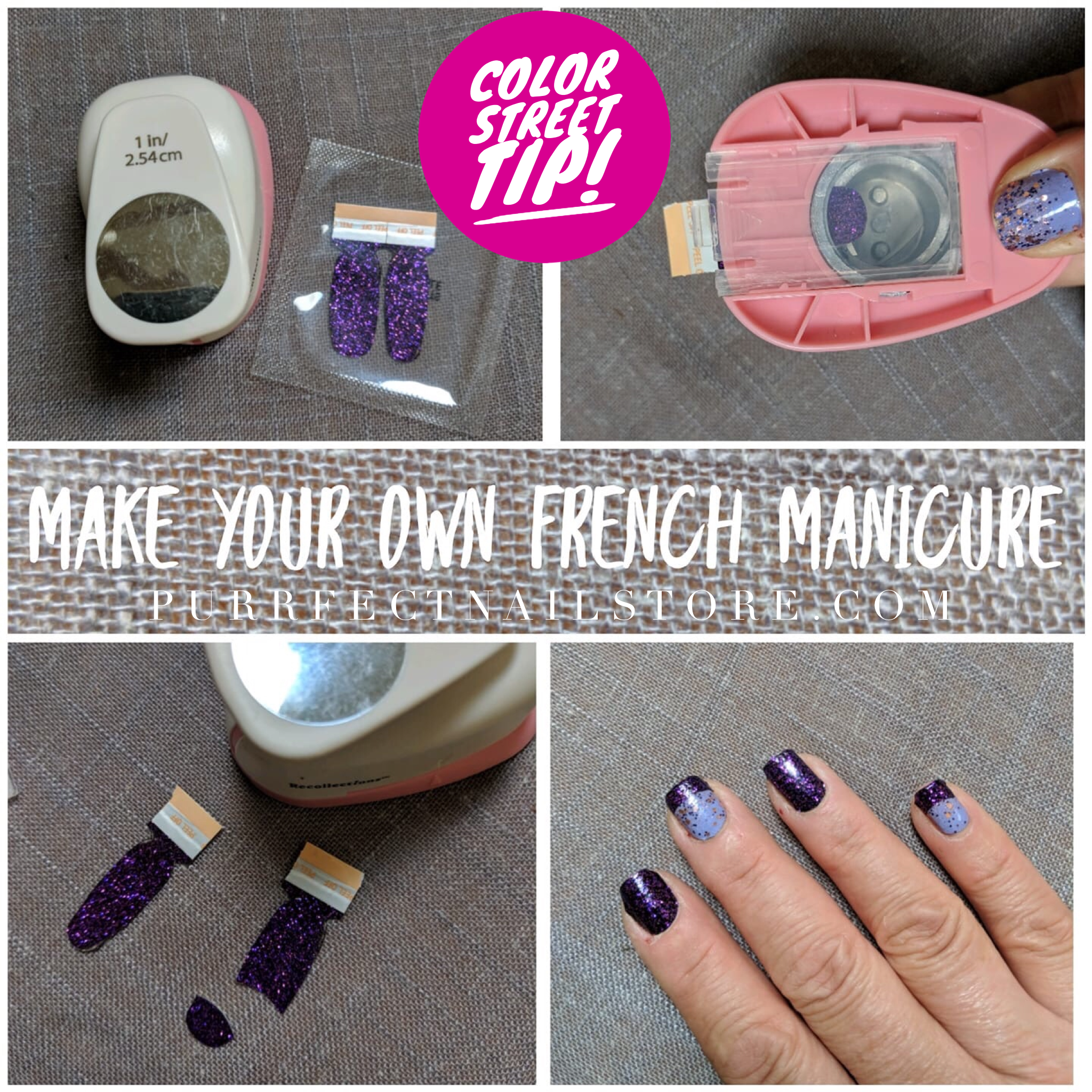 Take Any Color Street Color And Punch Out Your Own French Manicure