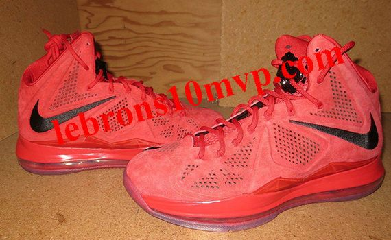 Red Suede Nike LeBron X | Red suede