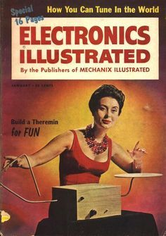 Vintage Cover From Popular Electronics Build A Theremin For Fun Theremin Old Time Radio Electronics Illustration