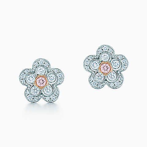 Gifts For Her Fancy Pink Diamond Pink Diamond Tiffany Earrings