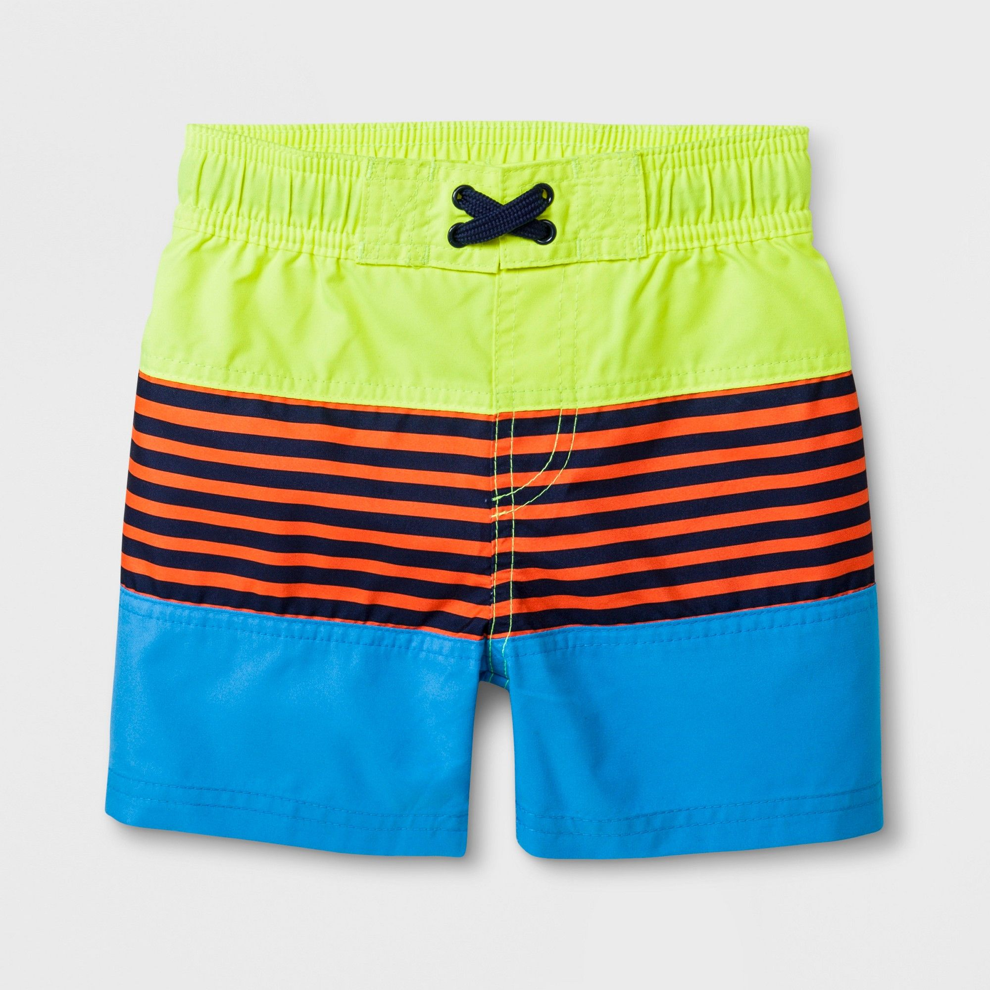 Toddler Boys' Striped Swim Trunks Cat & Jack Yellow 2T