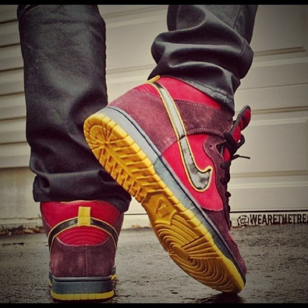 new styles 06df4 74eed Nike Dunk High SB Iron Man nike sneakers  Sneakers  Pinterest  Nike  dunks, Iron and Nike shoe