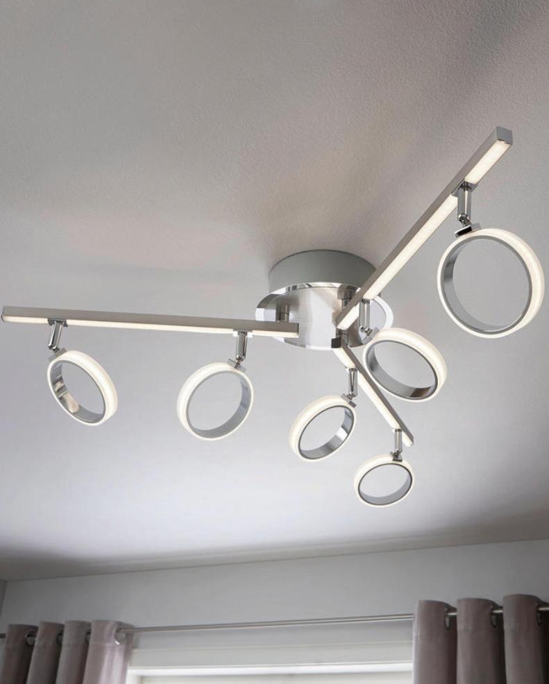 LED Deckenleuchte, Chromfarben, Verchromt | Lampen und