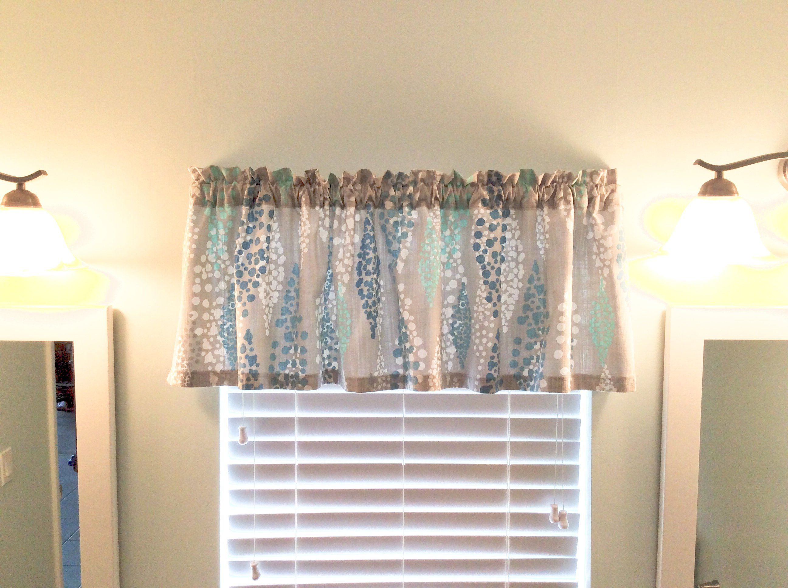 Beach Valance Coastal Tropical Lake Curtains Nautical Boat Curtains Kitchen Bathroom Bedr Grey Fabric Kitchen Window Valances Tropical Bathroom