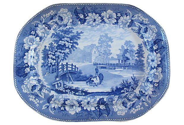 Staffordshire Platter, C. 1820 on OneKingsLane.com