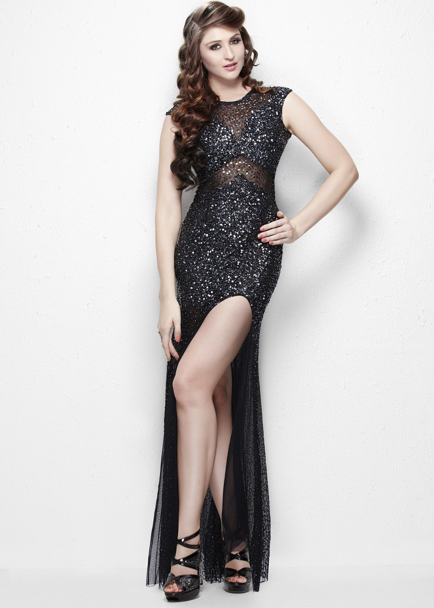 Primavera sparkly cap sleeve gown prom dress pinterest