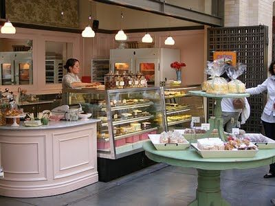 Cozy front-of-house bakery design
