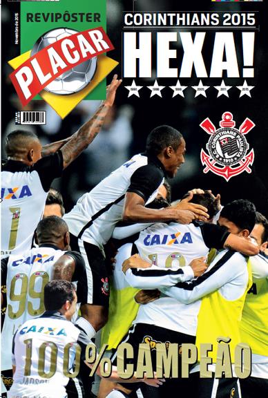 Revista pôster do hexa do Corinthians está nas bancas