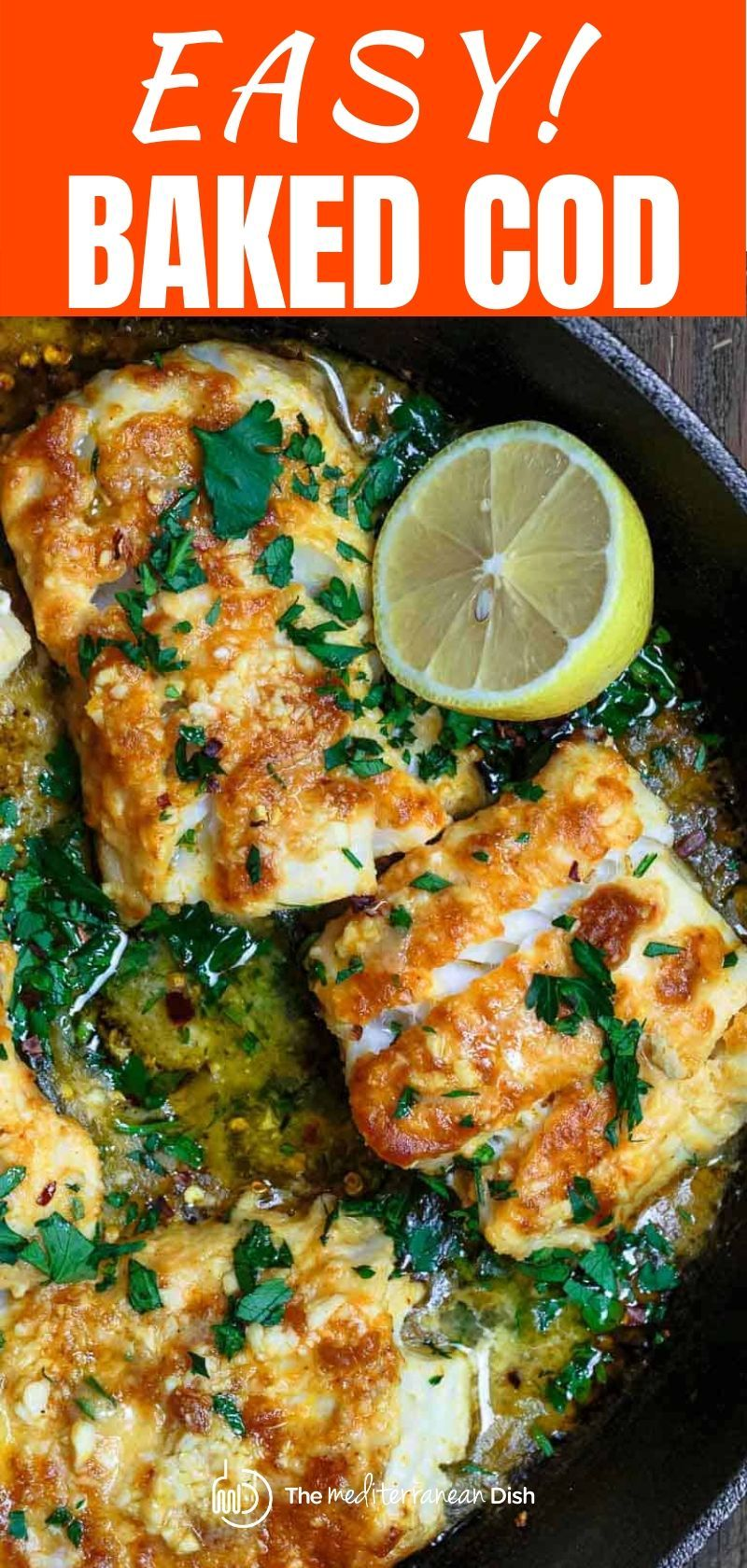 Easy Baked Cod In 2020 Baked Cod Cod Fish Recipes Cod Fillet Recipes