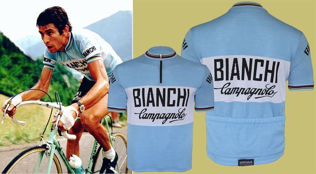 08621b2b5 Bianchi Campagnolo World Champion Jersey - Retro wool cycling jerseys