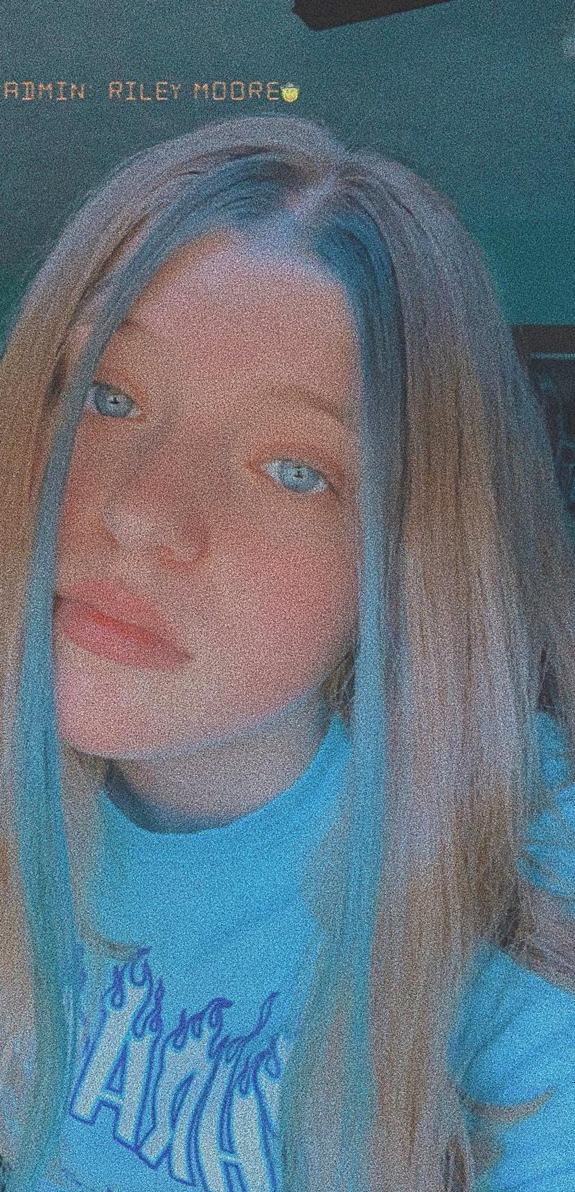 Blue Hair Dyed Front Strands Tiktok Hair In 2020 Hair Streaks Blue Hair Streaks Dyed Hair Blue