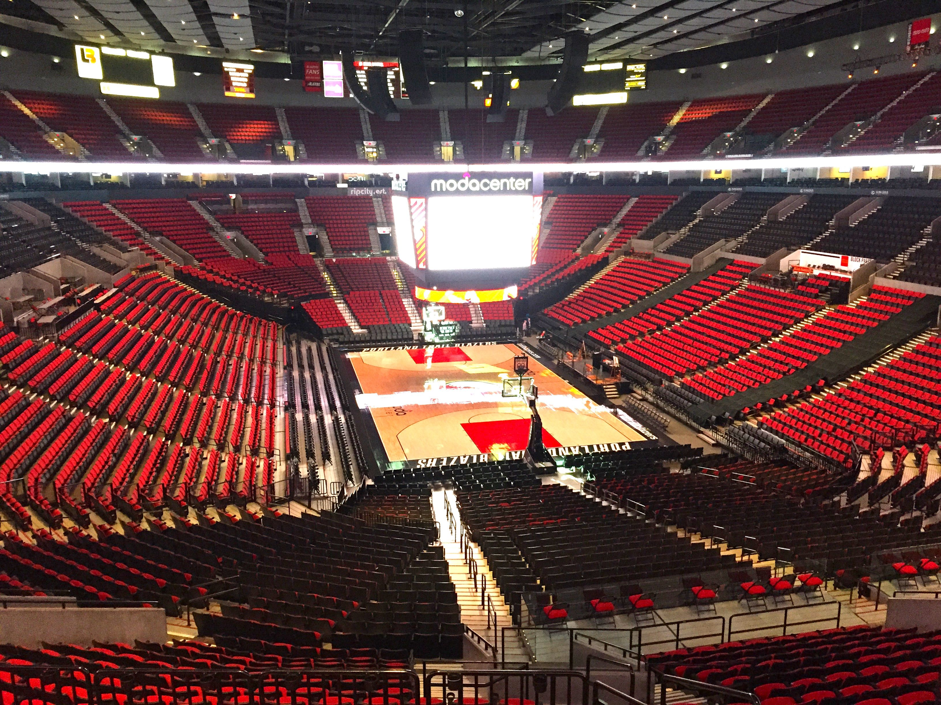 Moda Center Seating Portland Trailblazers Portland Trail Moda Center