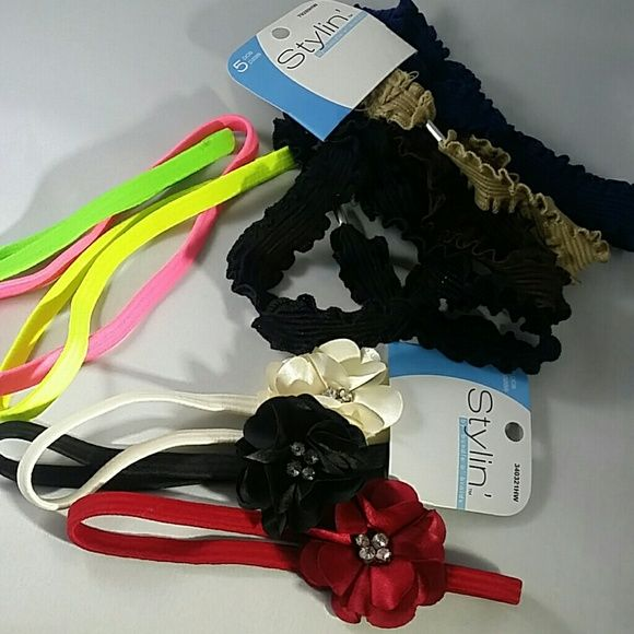 SALE! Headband Bundle 11 total, brand new headbands. Never been worn. Excellent condition. Colored as seen in pic! Stylin' Accessories Hair Accessories
