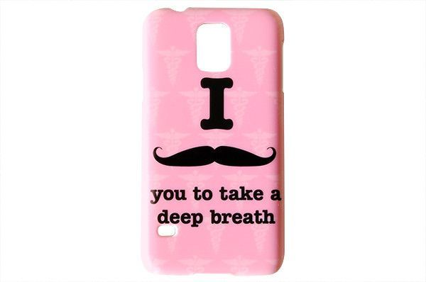 I Mustache You To Take A Deep Breath Phone Case