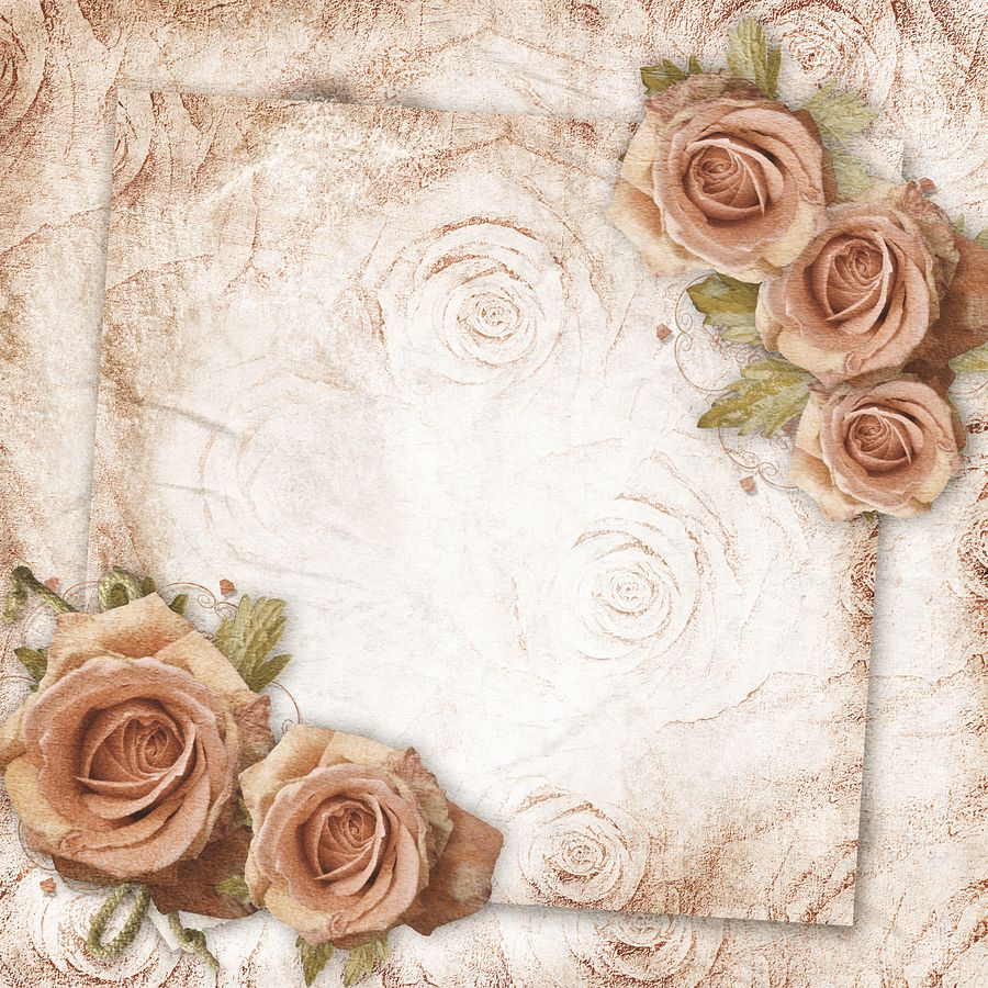 floral vintage wedding background for your virtual