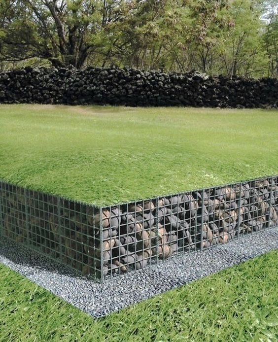 gabion retaining wall ideas yahoo image search results pinterest jardins d co. Black Bedroom Furniture Sets. Home Design Ideas