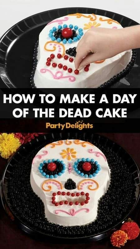How To Make A Day Of The Dead Cake Halloween Food For Party Day