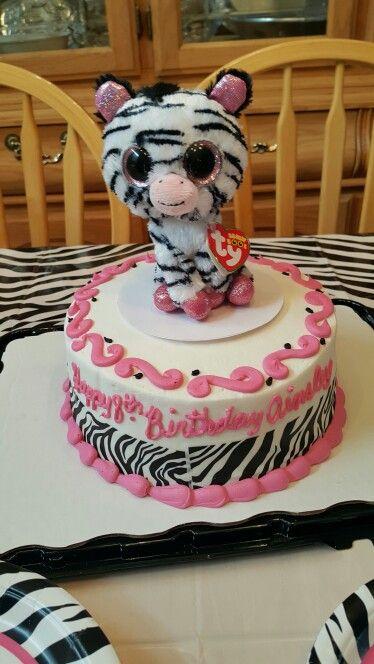 Zebra Beanie Boo Cake Walmart Beanie Boo Birthday Party