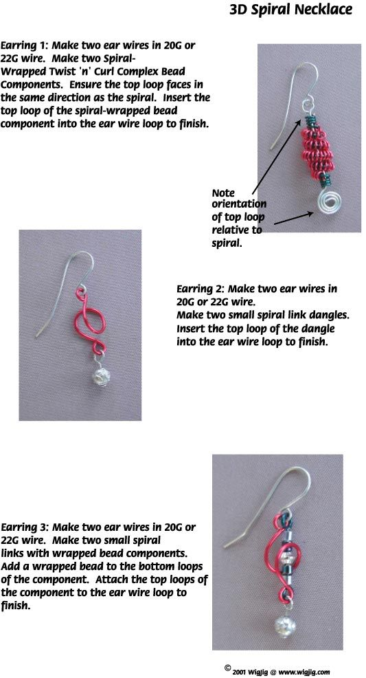 3D Wire Beads Necklace and Earrings made with WigJig jewelry making ...