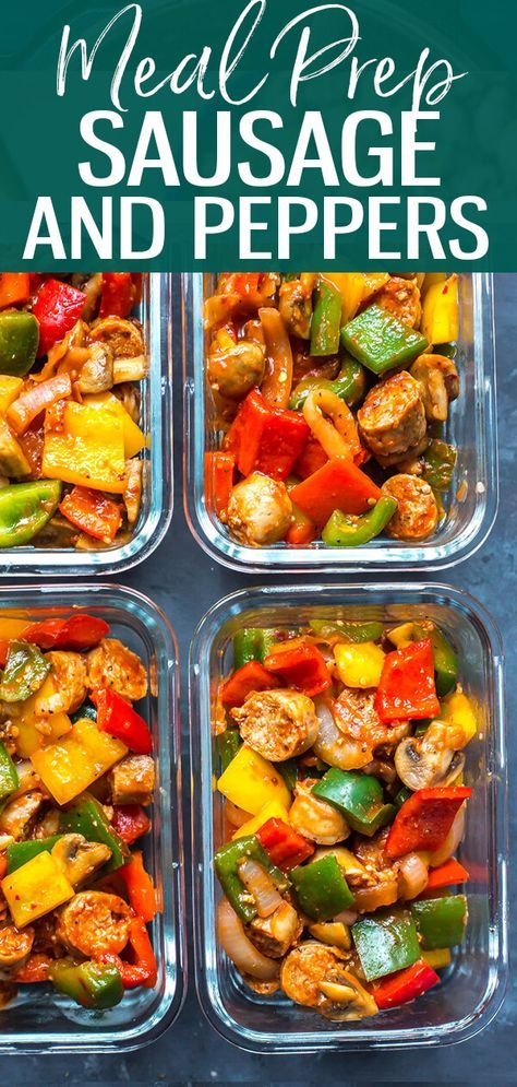 One Pan Sausage Peppers and Onions - The Girl on Bloor -   19 meal prep recipes for beginners simple ideas