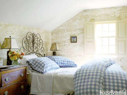 A Cozy, Charming House | 1 Attic Room at the Top | Cool headboards, Bedroom decor, Home Decor