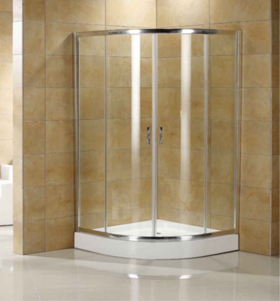 MAAX   Intuition Neo Round Frameless Clear Glass Corner Shower Door .