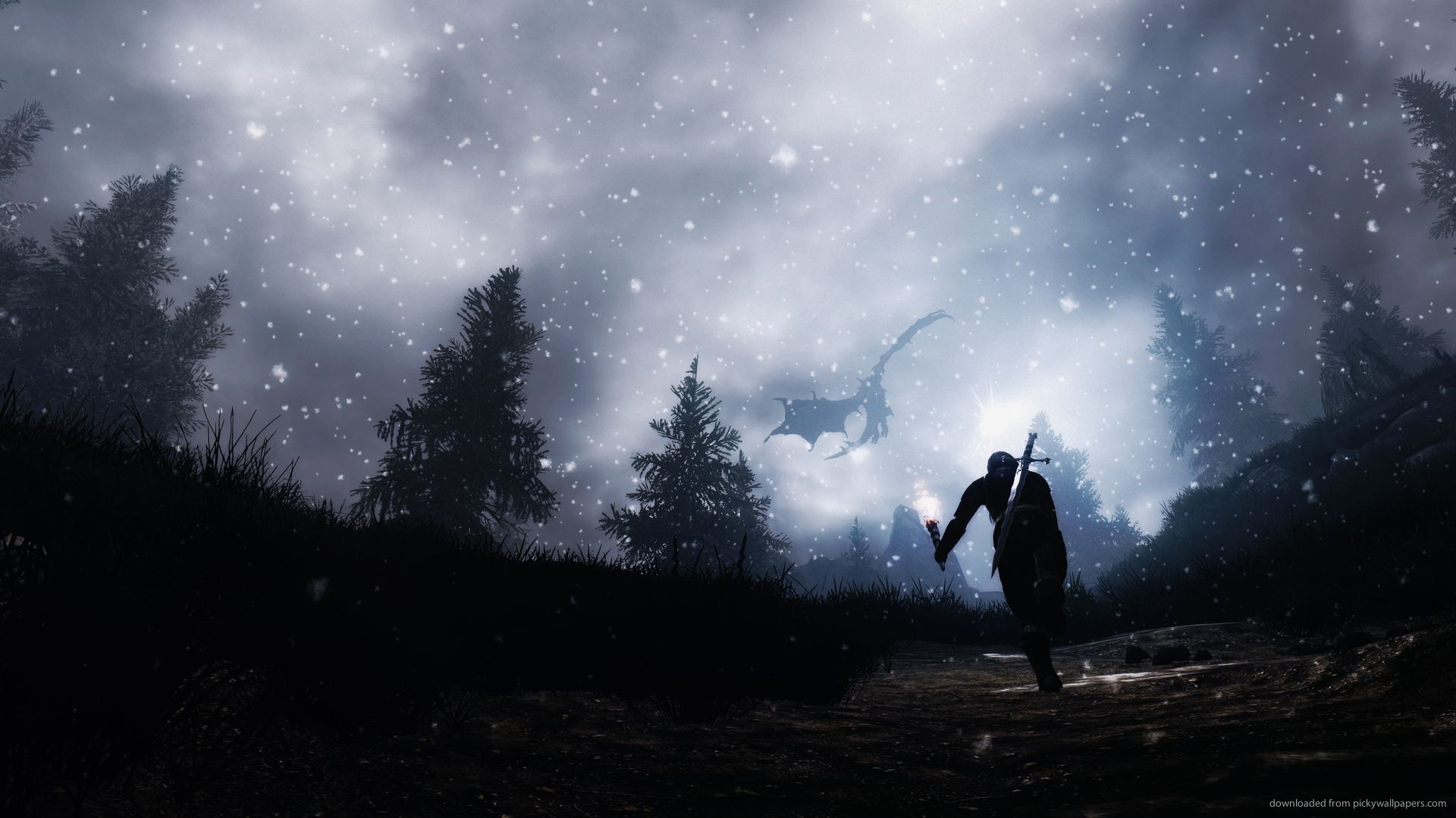 20 Skyrim Wallpapers 1920x1080p Starry Night Wallpaper Skyrim Wallpaper Starry Night Background
