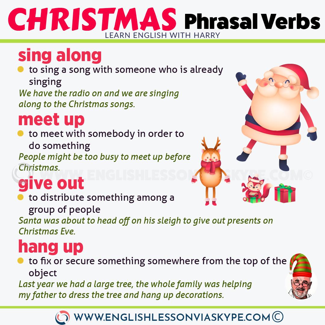 16 Christmas Phrasal Verbs Learn English With Harry