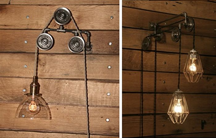 lámparas y estilo Decoración polea con industrial de FK1TlcJ